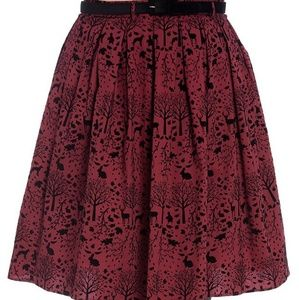 Hell Bunny Red Sherwood Forest Skirt